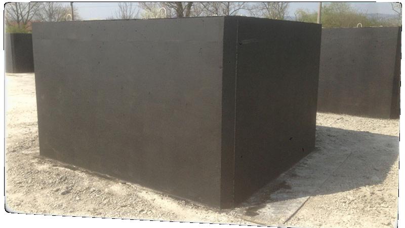 Jednokokomorová prefabrikovaná betonová žumpa