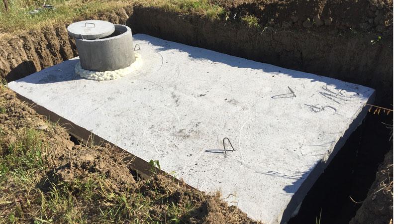 Montáž betonové jímky v Ostravě
