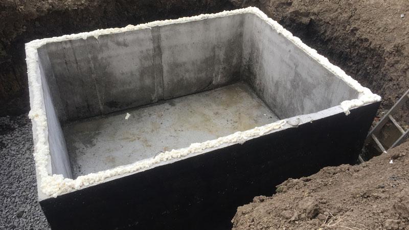 Montáž betonové žumpy v Liberci